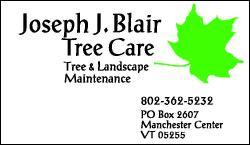 Joseph J Blair Tree Care and Landscape Maintenance